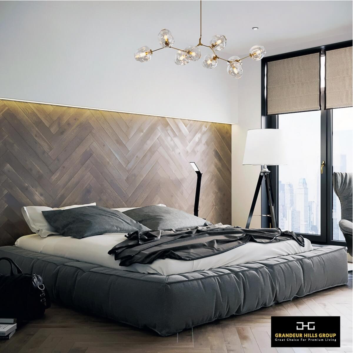 What things would make your sleep and relaxation ideal? Of course, spaciousness, light, fresh clean air, high-quality bedding and functional upholstered furniture can give you a bedroom that fully meets your wishes, tastes and needs. You can see it all in this fully functional, stylish and beautiful bedroom in the photo. Want to make your bedroom fully functional, stylish and attractive too? Then tackle the problem right now together with our best interior designers!